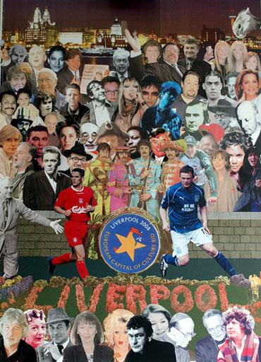 7991b309701 2008.a. on Euroopa kultuuripealinnaks Liverpool. Popkunstnik sir Peter  Blake on sel puhul loonud teose - vt ...