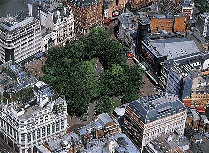 Aerial Photos of London 1. Aerial view of Leicester Square