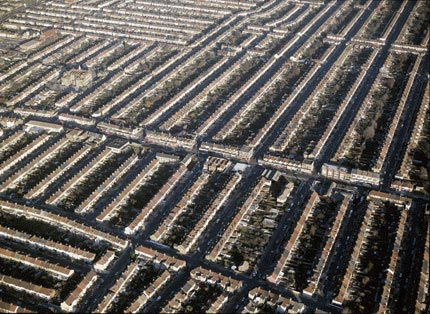 Aerial view of housing in Ilford.