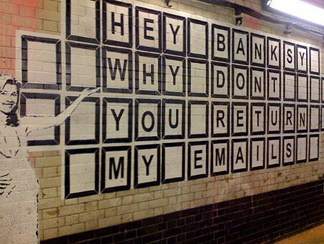 uk graffiti artist banksy. by graffiti artist Banksy