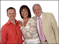 Paul Hudson, Christa Ackroyd and Harry Gration