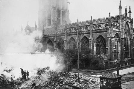 Air raid damage in Britain during the First World War.