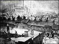 Smoky houses in Ancoats (c) Manchester Libraries