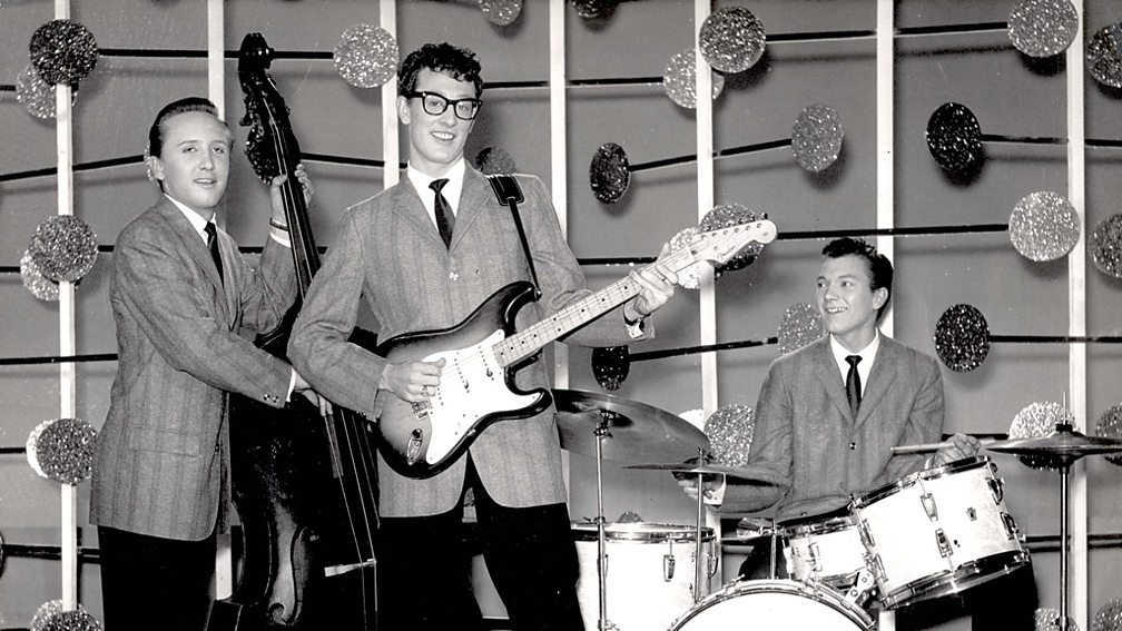 Buddy Holly (centre), one of the Three Stars in Ruby Wright's song