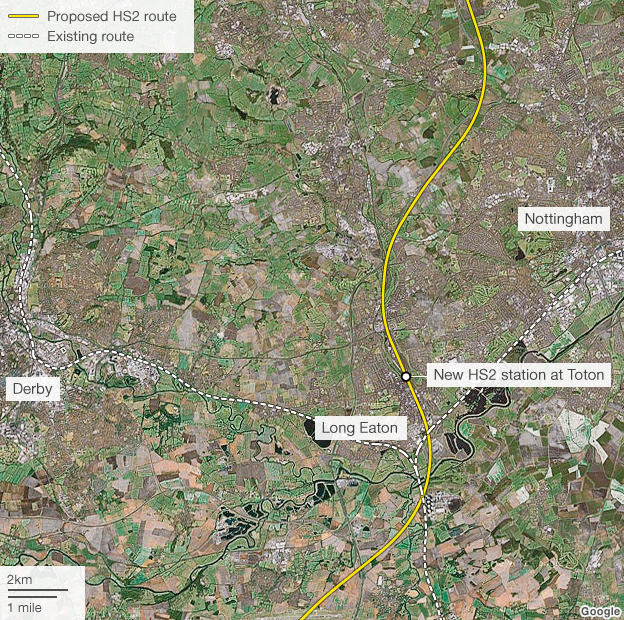 Bbc News High Speed Rail Map Proposed New Stations