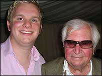 Jonathan Parramint with Clive Dunn.