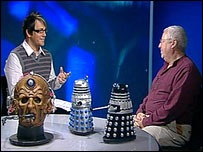 Martin Barber and Terry Molloy in webTV studio