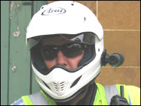 The Northamptonshire police helmet camera