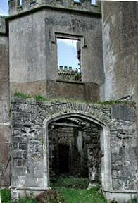 Ruined entrance to Kilwaughter Castle