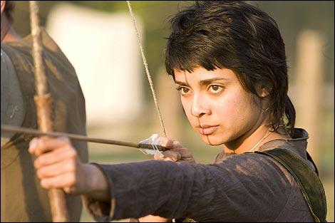 Djaq (Anjali Jay) takes aim