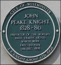 The First Traffic Lights Were Installed In Front Of The British House Of  Parliament In 1868. Engineer John Peake Knight Designed The Traffic Light  To ...