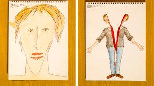 Bobby Baker diary drawings