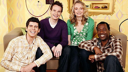 CBeebies presenters (LtoR): Andy Day, Alex Winters, Cerrie Burnell and Sid Sloane