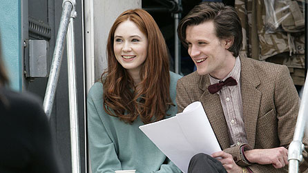 Karen Gilan and Matt Smith