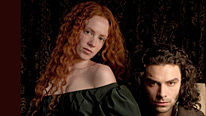 Lizzie (Amy Manson ) and Rossetti (Aidan Turner) enjoy their new-found wealth