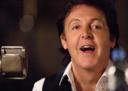 Paul McCartney singing at Abbey Road