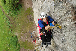 Karen Darke on Kilnsey practising for El Cap (Parnell)