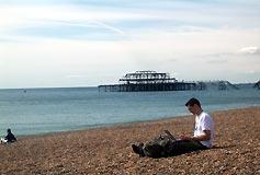 'wifibeach' ou inalámbrica na praia.