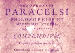 Title page from a Medical Textbook by Paracelsus