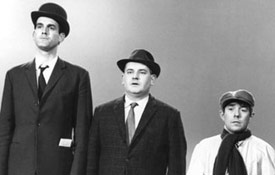 (l-r) John Cleese, Ronnie Barker and Ronnie Corbett demonstrate the British class system
