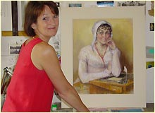 Jane Austen and artist Melissa Dring.