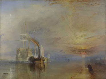 Joseph Mallord William Turner, The Fighting Temeraire tugged to her last berth to be broken up 1838, 1839, � The National Gallery, London