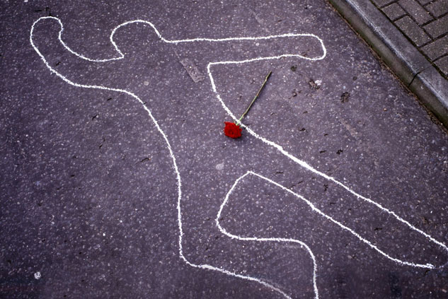 Chalk outlines -- the longstanding sign of a murder