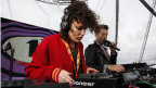 Annie Mac and Grimmy on the Outdoor Stage