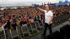 Chris Moyles whips the crowd into a frenzy