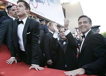 Brad Pitt George Clooney. Brad Pitt, Matt Damon and
