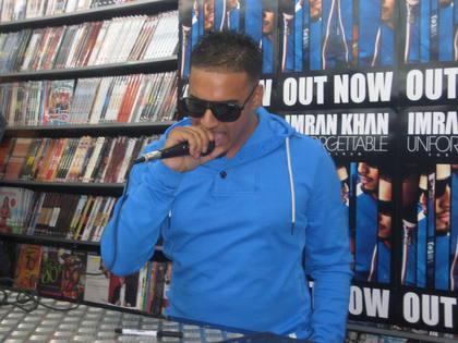 Dutch born singer Imran Khan is touring the UK promoting his debut album.