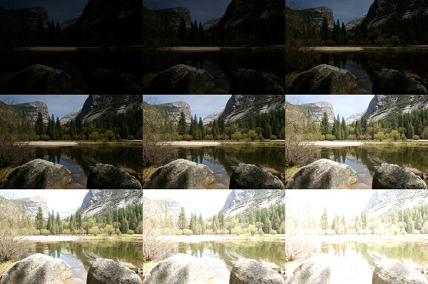 Multiple exposures of Mirror Lake (Image Courtesy of Mark Fairchild)