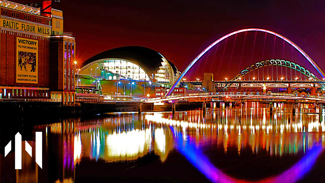 Bridges over the River Tyne, next to the Baltic art gallery.