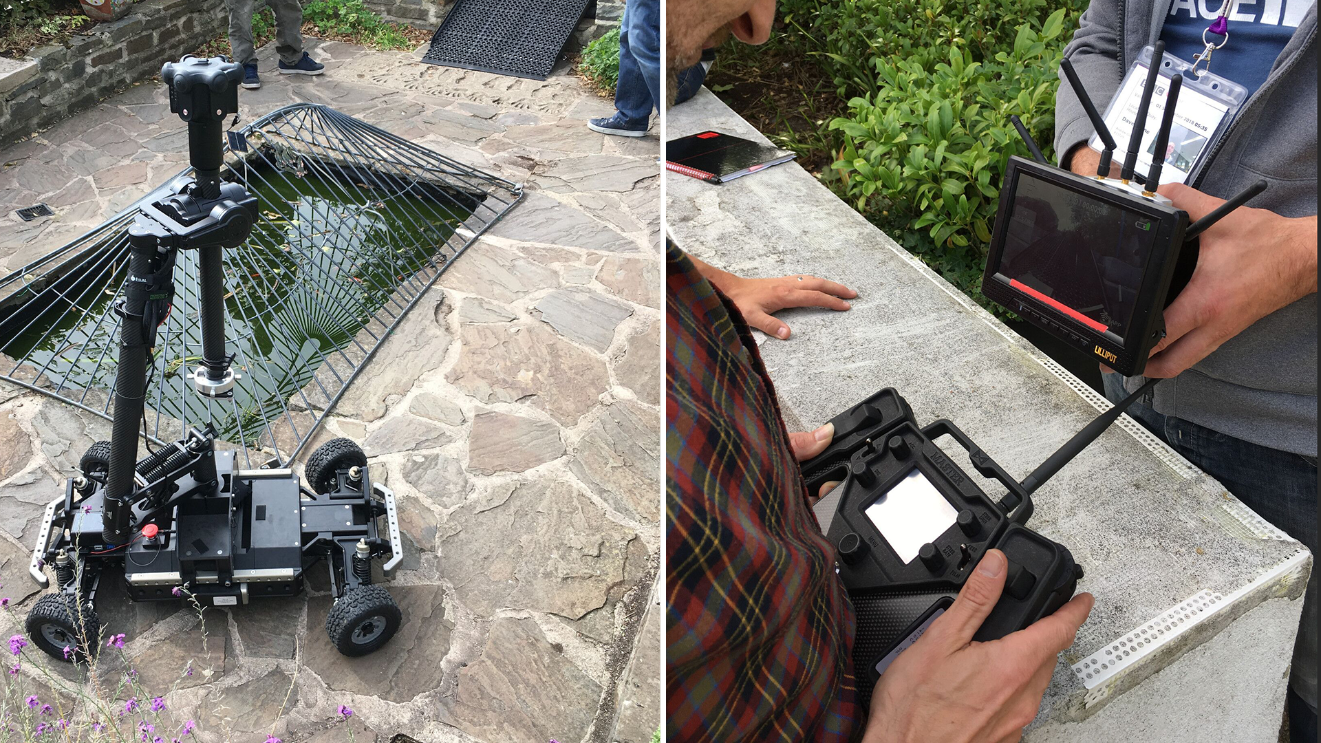 The remote-controlled Agito platform equipped with an Obsidian R and active camera stabilisation