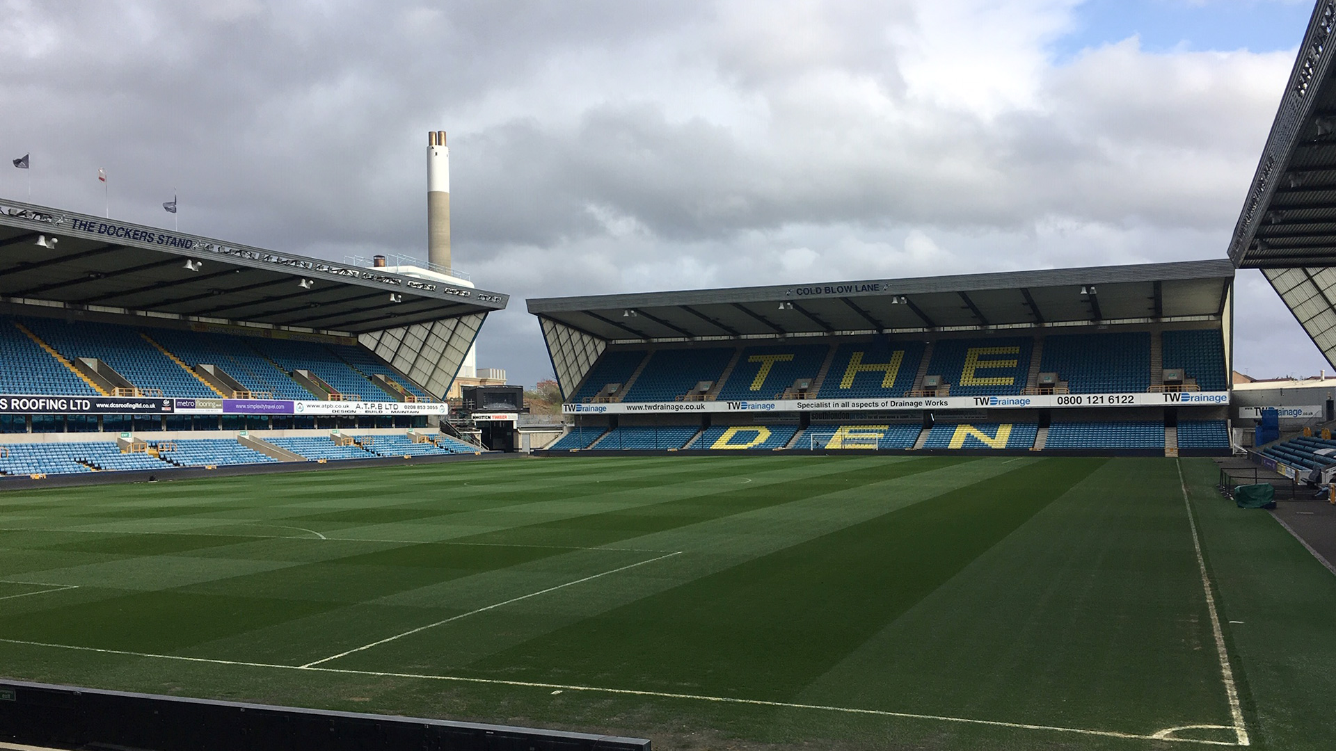 Millwall's football ground, The Den