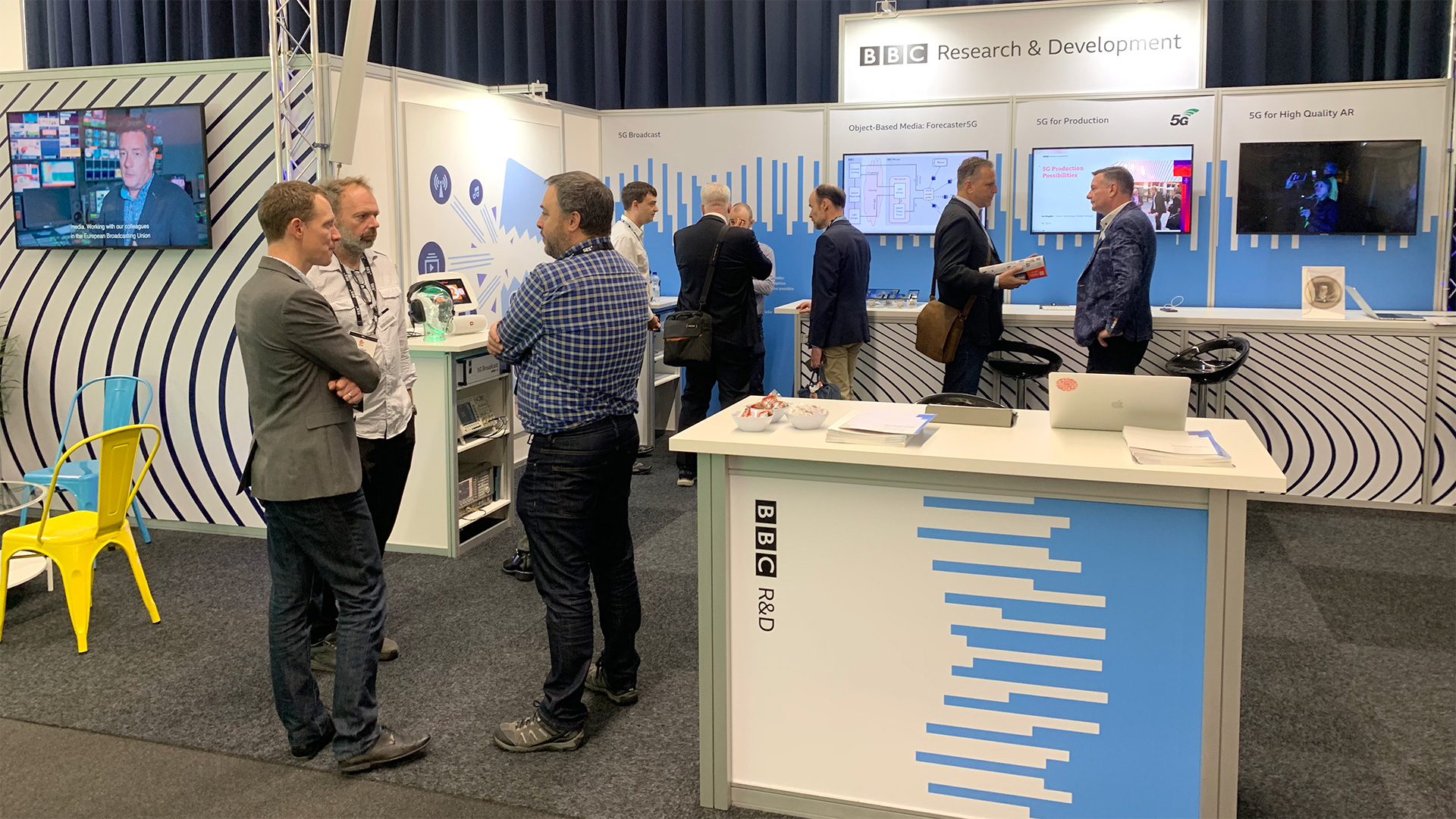 The BBC R&D stand at IBC 2019