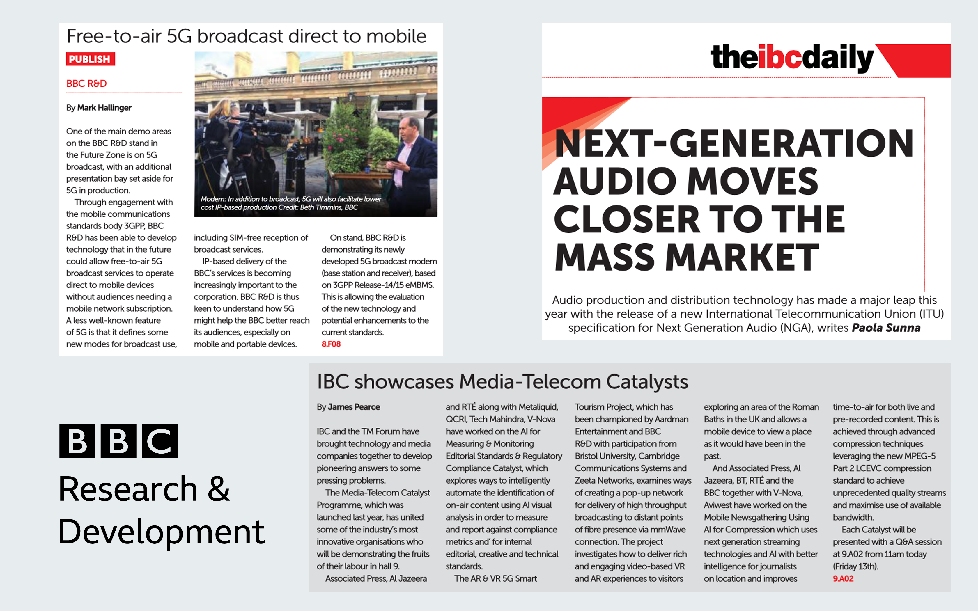 Today's IBC Daily articles.