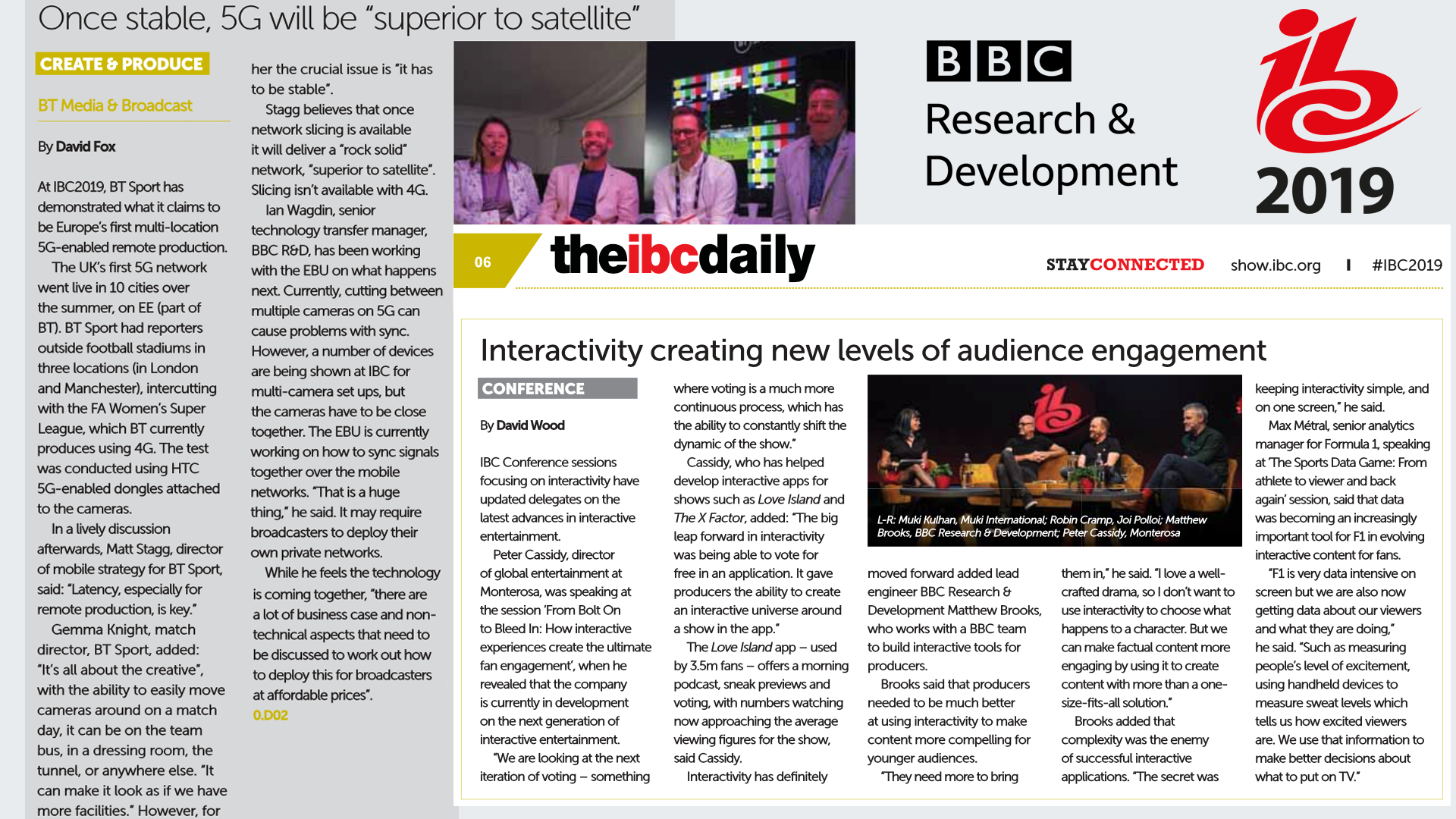 IBC Daily coverage from Tuesday.