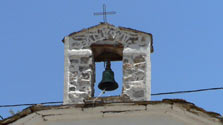 Church bell tower in Greece