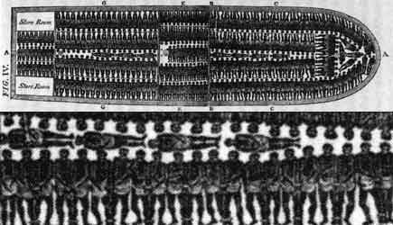 Designhouse on Diagram Of The Deck Of A Slave Ship  Tiny Black Human Figures Are