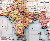 Old map of British Indian Empire