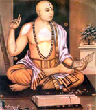 The philosopher Madhva seated