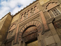 Mezquita mosque, a huge, square building with keyhole archways and windows