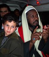 Sufi Muslims on a coach