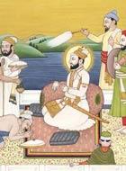 Peinture de Guru Hargobind et disciples