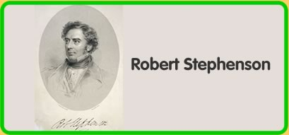 Drawing of Robert Stephenson from 1849