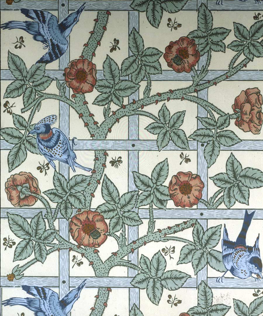 Wonderful Wallpaper Horse Pattern - ai_morris_trellis_zoom  Pic_53757.jpg