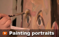Watch painting portraits video