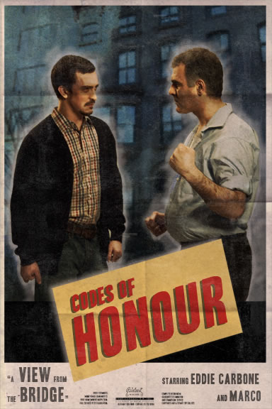 a view from the bridge honour Review of a view from the bridge starring mark strong and russell tovey at the   the unabashed demands of ancient ethics-honor, respect, allegiance.