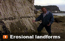 Watch 'Erosional landforms' video